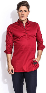 the capricious scarlet cotton tunic