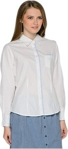 Mavango Women's Solid Casual White Shirt