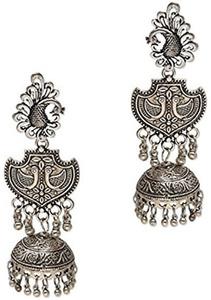 zerokaata silver metal dangle & drop earrings women & girls