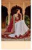 Dazzling White and Maroon Designer Lehengha Choli