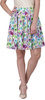rampwalk floral print women's pleated multicolor skirt